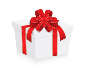 Anniversary Gift Box With Ribbon Bow
