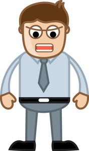 Annoying Boss - Business Cartoon Character Vector