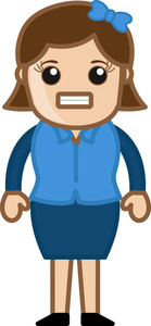 Annoying Woman - Business Cartoon Character Vector