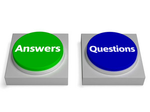 Answers Questions Buttons Shows Faq Or Solutions