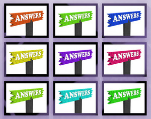 Answers Signs On Monitors Showing Assistance