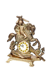 Antique Bronze Clock, Minutes To Twelve.