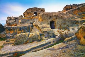 Antique cave city Uplistsikhe