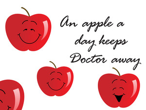 Apple Background With Slogan