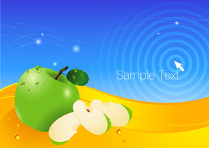 Apple Fresh Vector Background