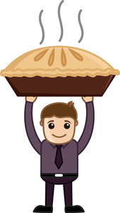 Apple Pie - Cartoon Business Vector Character