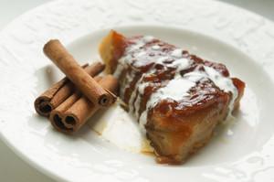 Apple Pie With Icecream And Cinnamon