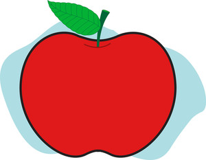 Apple Shape Illustration