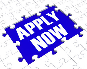 Apply Now Puzzle Showing Employment Recruitment