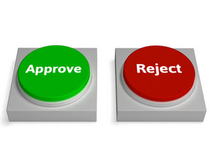 Approve Reject Buttons Shows Approving
