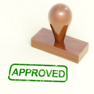 Approved Rubber Stamp Shows Quality Excellent Products