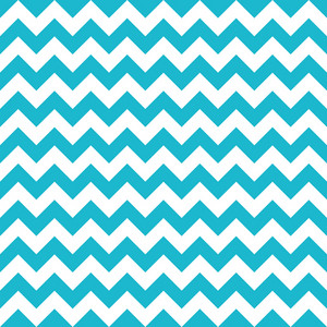 Aqua And White Chevron Pattern On Dinosaur Paper