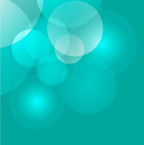 Aqua Green Bubble Background
