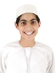 Arabic boy smiling