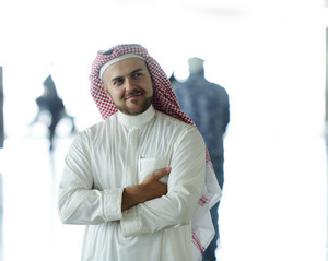 Arabic businessman in the Middle east