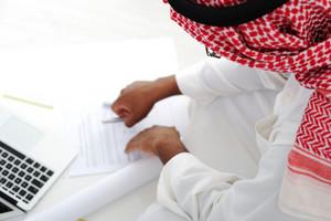 Arabic businessman working