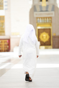 Arabic man walking