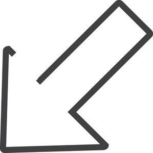 Arrow 13 Minimal Icon