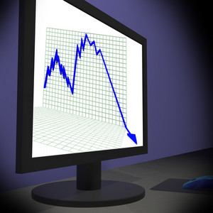 Arrow Falling On Monitors Showing Bad Statistics