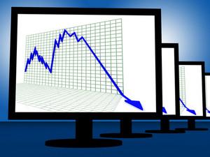 Arrow Falling On Monitors Shows Failure