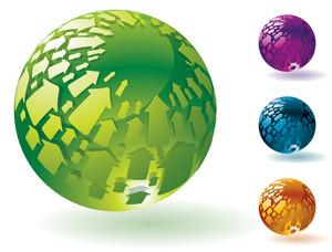 Arrow Spheres. Vector.