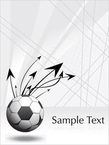 Arrowhead Soccer Ball On White Background