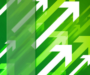 Arrows Green Background