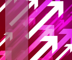 Arrows Pink Background