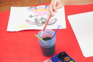 Art class in kindergarten