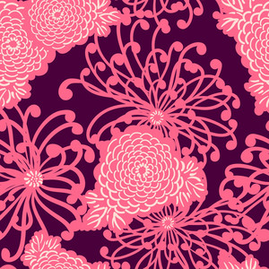 Art Deco Flower Seamless Pattern