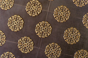 Art golden on brown wood background