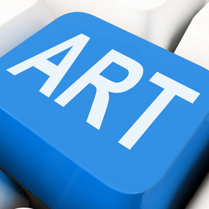 Art Key Means Artistic Or Artwork