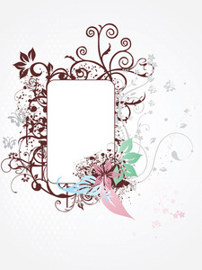Artistic Design Frame With Grunge