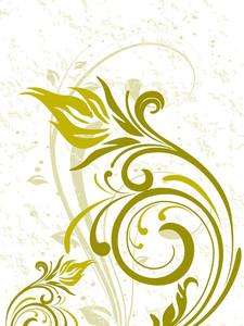 Artistic Floral Design Background