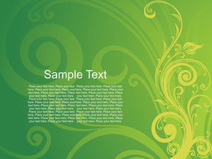 Artistic Green Background With Sample Text