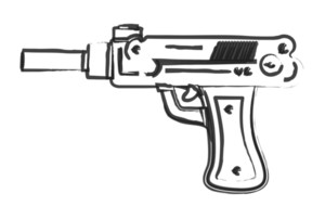 Artistic Gun Drawing