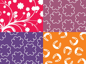 Artistic Pattern Background With Shamrock