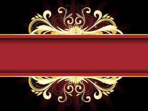 Artistic Pattern Banner With Background