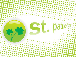 Artistic Pattern Shamrock Background 17 March
