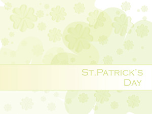 Artistic Pattern Shamrock Background
