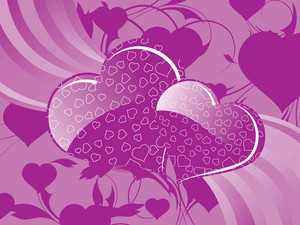 Artistic Pattern Valentine Background