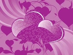 Artistic Pattern Valentine Background