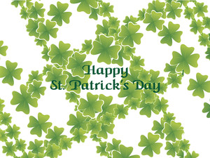 Artistic Shamrock Background Card
