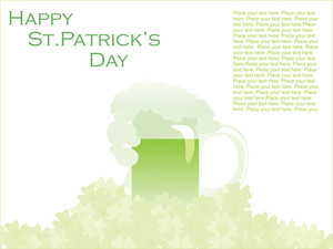 Artistic Shamrock With Mug For Patricks Day 17 March