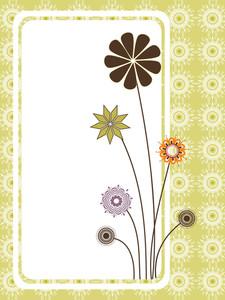 Artwork Background With Colorful Blooms Banner