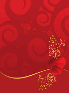 Artwork Background With Decorated Heart