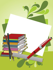 Artwork Background With Education Supplies