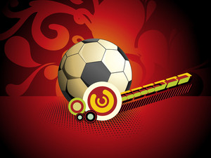 Artwork Background With Isolated Football