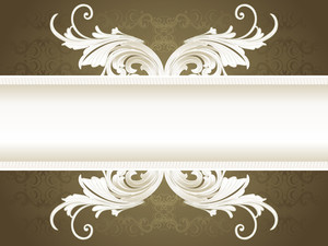 Artwork Banner With Seamless Background