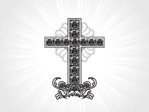 Artwork Pattern Christian Cross